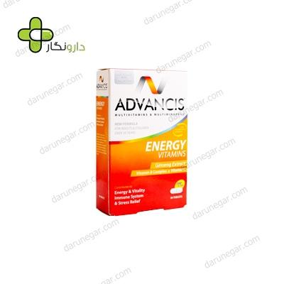 قرص مولتی ویتامین مینرال ادونسیس انرژی
