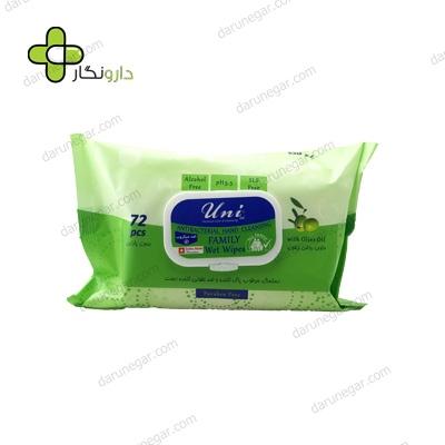 دستمال مرطوب و پاک کننده دست یونی لد آنتی باکتریال