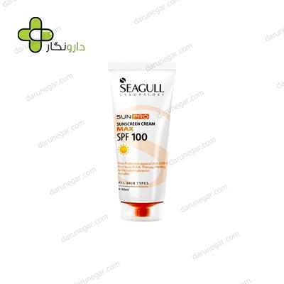 کرم ضد آفتاب SPF100 سی گل مناسب برای انواع پوست