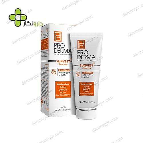 کرم ضد آفتاب و ضد چروک پرودرما SPF90